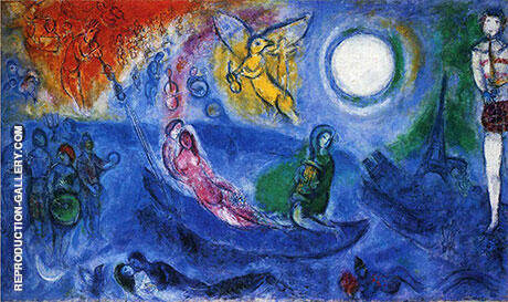 The Concert Painting By Marc Chagall - Reproduction Gallery