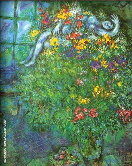 Le Bouquet Ardent Painting By Marc Chagall - Reproduction Gallery