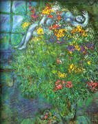 Le Bouquet Ardent By Marc Chagall