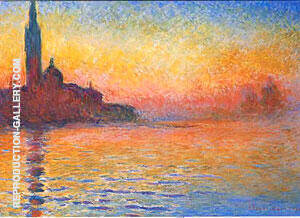 Maggiore at Twilight By Claude Monet Replica Paintings on Canvas - Reproduction Gallery