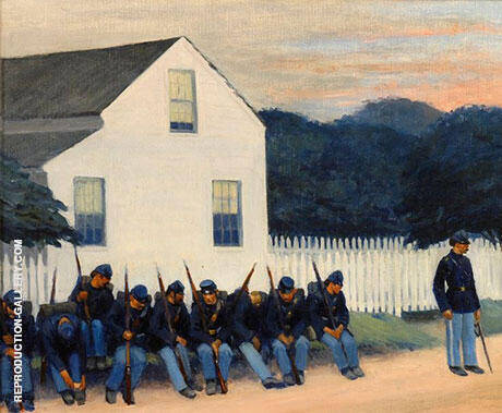 Reproduction of Dawn Before Gettysburg 1934 by Edward Hopper | Oil Painting Replica On CanvasReproduction Gallery