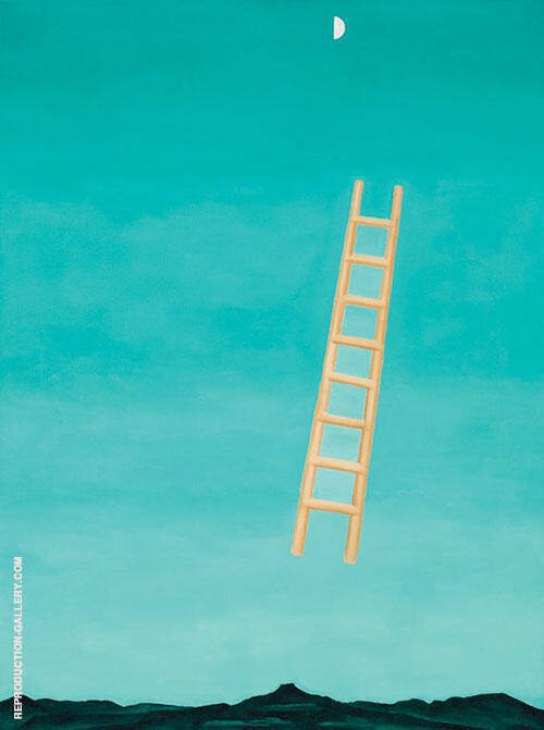 Reproduction of Ladder to the Moon 1958 by Georgia O'Keeffe | Oil Painting Replica On CanvasReproduction Gallery