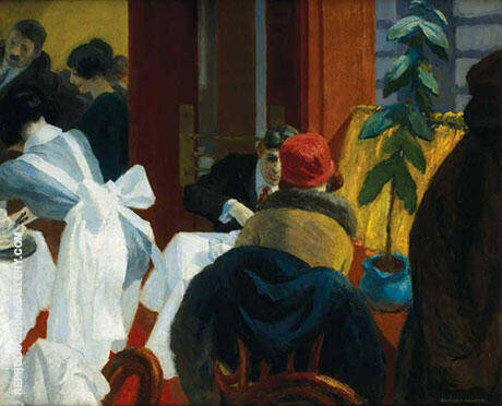 The New York Restaurant 1922 Painting By Edward Hopper