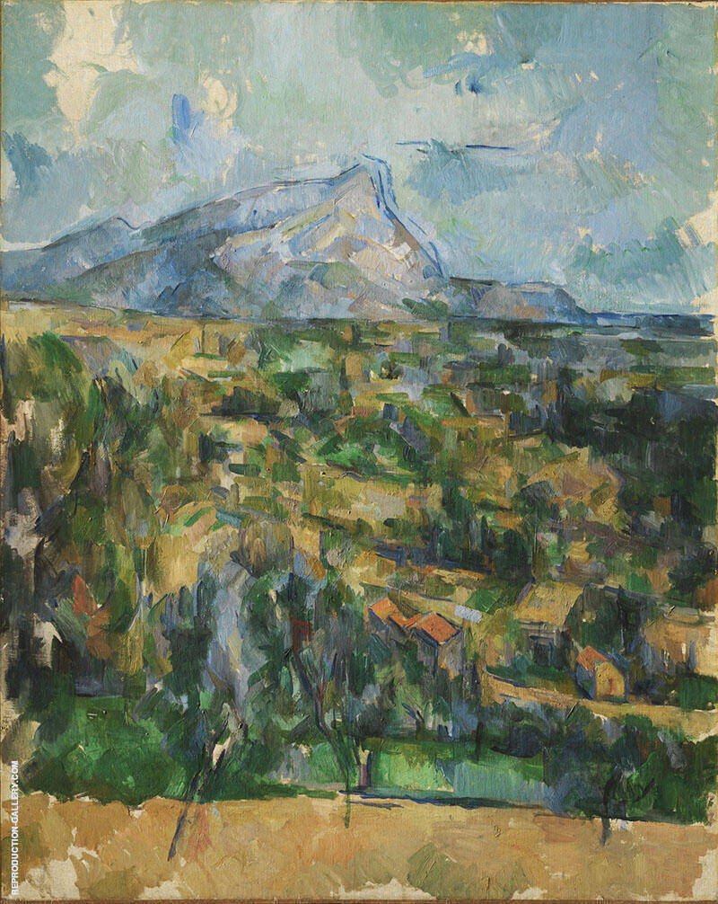 Mont Sainte-Victoire 1904-06 Painting By Paul Cezanne