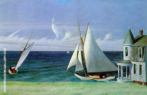 Lee Shore 1941 Painting By Edward Hopper - Reproduction Gallery