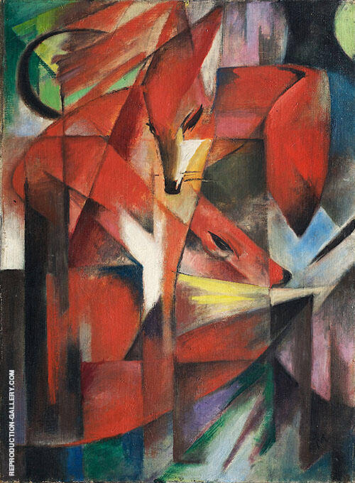 Foxes 1913 By Franz Marc Replica Paintings on Canvas - Reproduction Gallery
