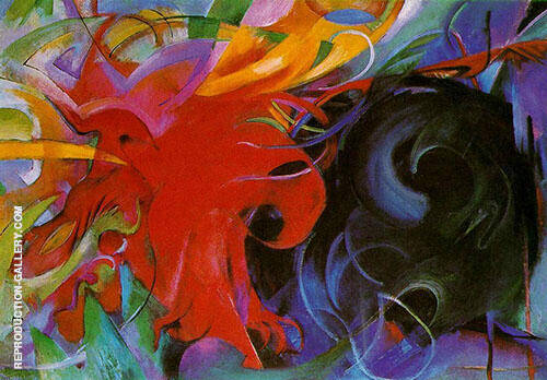 Fighting Forms 1914 By Franz Marc - Oil Paintings & Art Reproductions - Reproduction Gallery