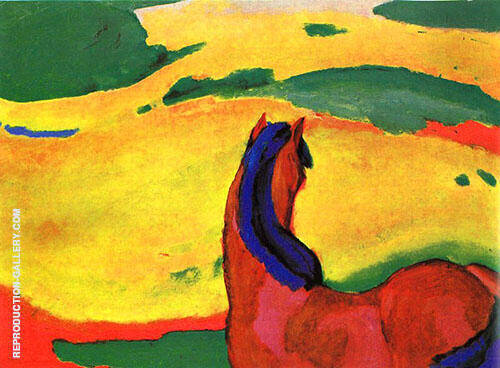 Horse in the Country Painting By Franz Marc - Reproduction Gallery
