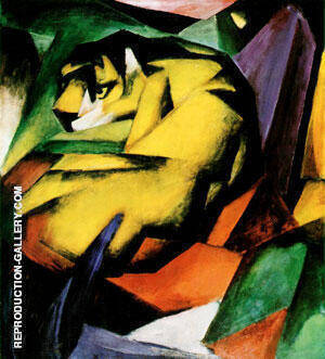 Tiger By Franz Marc Replica Paintings on Canvas - Reproduction Gallery