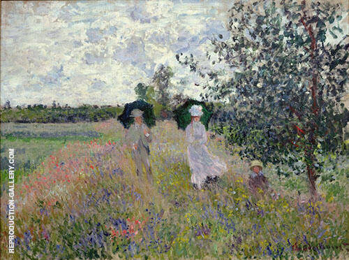 Promenade Argenteuil 1873 By Claude Monet Replica Paintings on Canvas - Reproduction Gallery