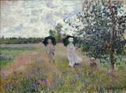 Promenade Argenteuil 1873 By Claude Monet