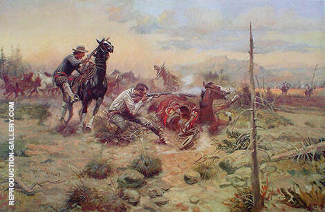 When Horse Flesh Comes High Painting By Charles M Russell
