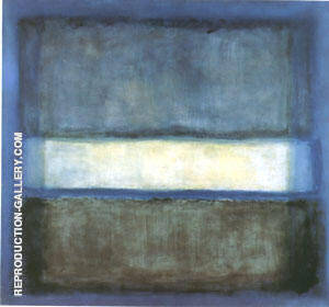 No 27 Light Band White Band 1954 Painting By Mark Rothko