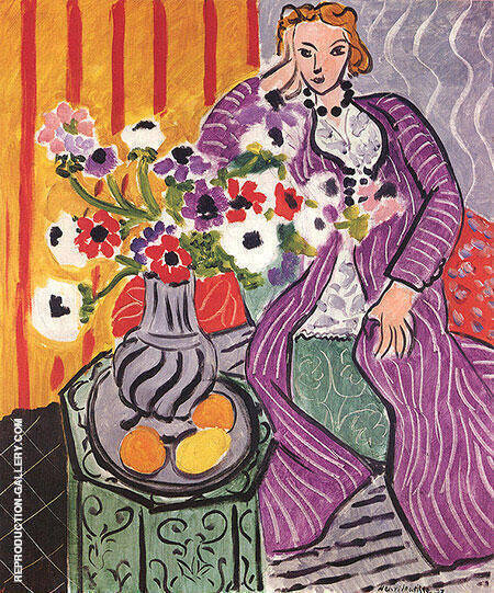 Purple Robe and Anemones 1937 Painting By Henri Matisse