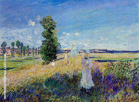 La Promenade Argenteuil Painting By Claude Monet - Reproduction Gallery
