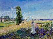 La Promenade Argenteuil By Claude Monet