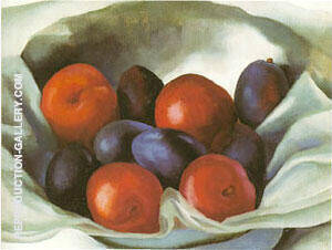 Plums Painting By Georgia O'Keeffe - Reproduction Gallery