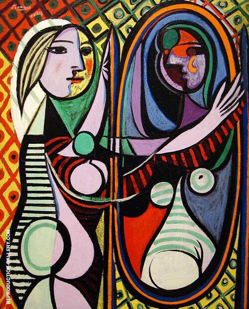 Reproduction of Girl Before a Mirror 1932 by Pablo Picasso | Oil Painting Replica On CanvasReproduction Gallery