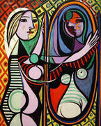 Girl Before a Mirror 1932 By Pablo Picasso