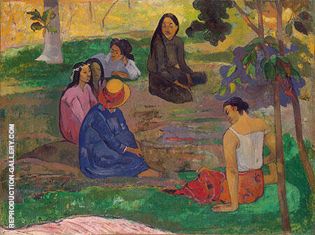 Les Parau Parau (Conversion) 1891 Painting By Paul Gauguin
