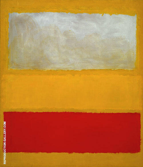 No 13 White Red on Yellow Painting By Mark Rothko - Reproduction Gallery