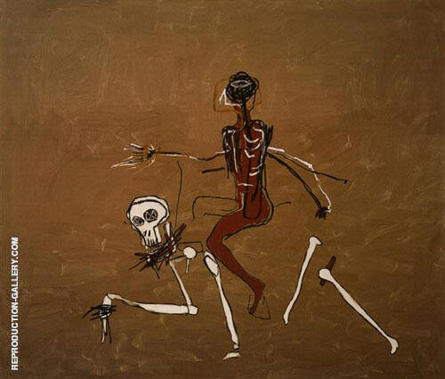 Riding With Death 1988 Painting By Jean-Michel-Basquiat