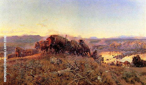 When the Land Belonged to God Painting By Charles M Russell