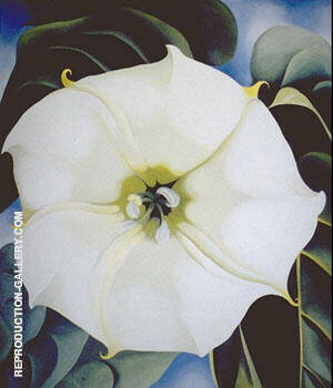 Single Jimson Weed 1932 By Georgia O'Keeffe - Oil Paintings & Art Reproductions - Reproduction Gallery