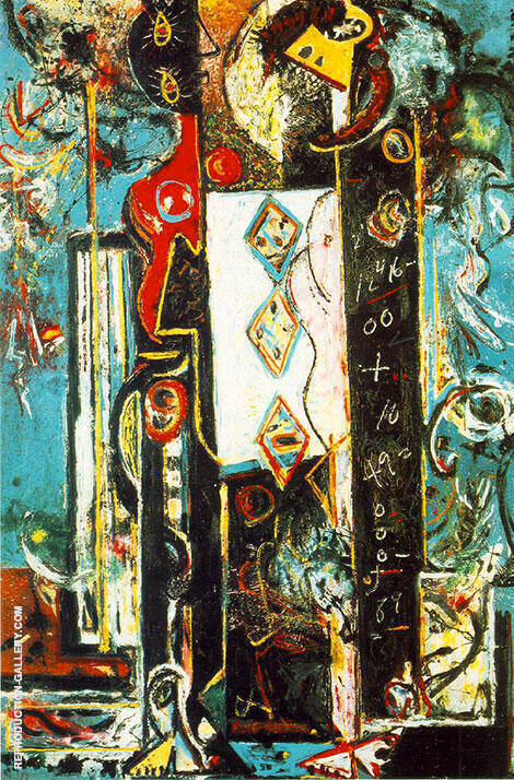 Male and Female 1942 By Jackson Pollock