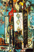 Male and Female 1942 By Jackson Pollock (Inspired By)