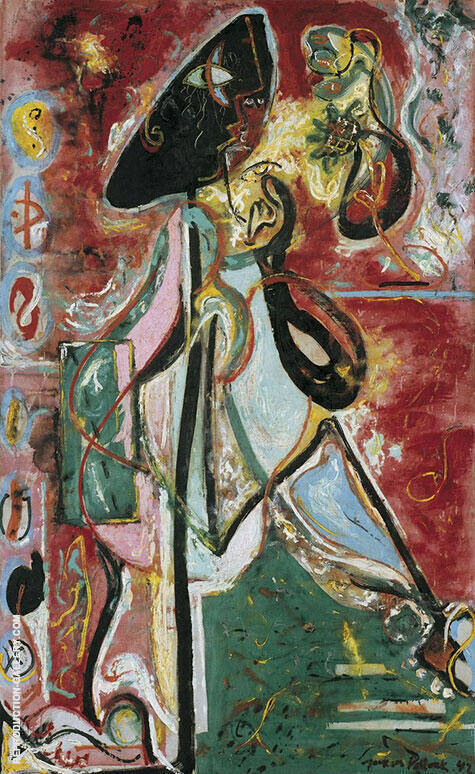 The Moon Woman 1942 By Jackson Pollock