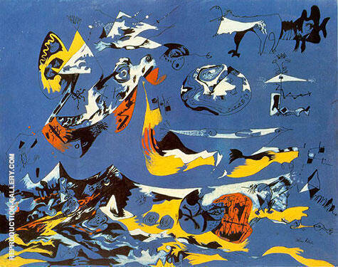 Blue Moby Dick 1943 By Jackson Pollock Replica Paintings on Canvas - Reproduction Gallery