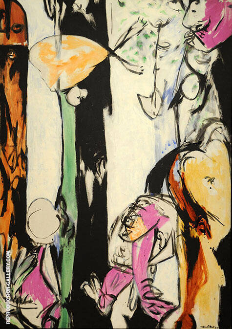 Easter and the Totem 1953 By Jackson Pollock - Oil Paintings & Art Reproductions - Reproduction Gallery
