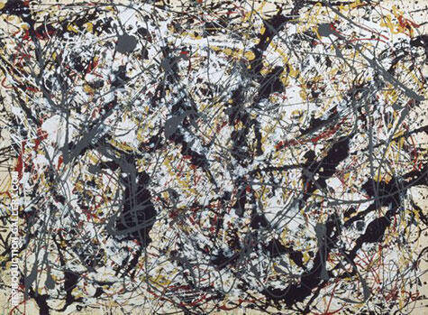 Silver Over Black By Jackson Pollock (Inspired By)