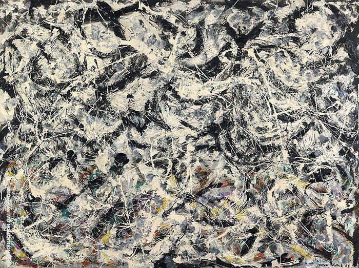 Arc-en-ciels Gris Greyed Rainbow Painting By Jackson Pollock (Inspired By)