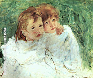 Reproduction of Sisters by Mary Cassatt | Oil Painting Replica On CanvasReproduction Gallery