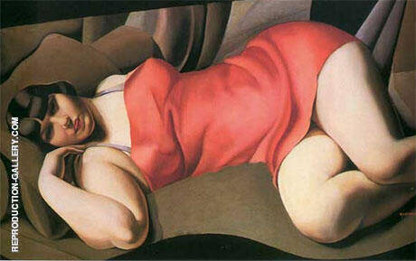 Tunique Rose By Tamara de Lempicka Replica Paintings on Canvas - Reproduction Gallery