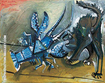 Lobster and Cat By Pablo Picasso - Oil Paintings & Art Reproductions - Reproduction Gallery