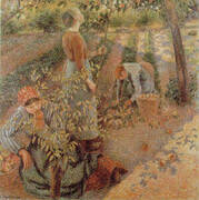 Apple Picking 1886 By Camille Pissarro