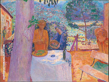 The Terrace at Vernonnet 1939 By Pierre Bonnard - Oil Paintings & Art Reproductions - Reproduction Gallery