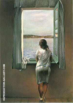 Girl Standing at the Window 1925 By Salvador Dali