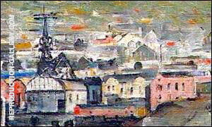 Six Bells Painting By L-S-Lowry - Reproduction Gallery