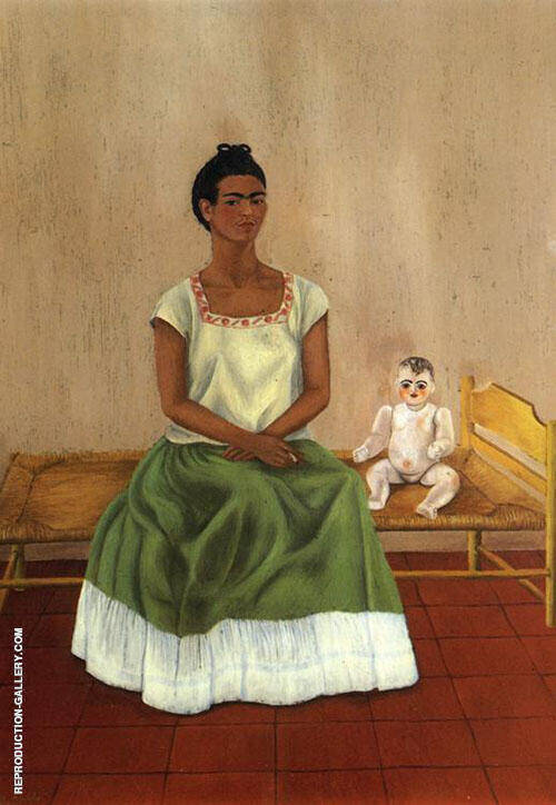 Me and My Doll Self Portrait 1940 Painting By Frida Kahlo