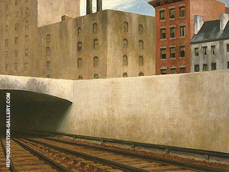 Approaching the City By Edward Hopper - Oil Paintings & Art Reproductions - Reproduction Gallery