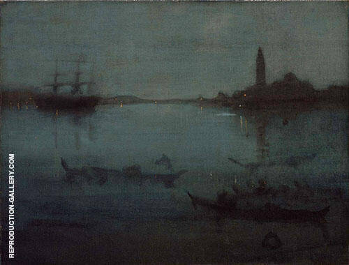 Nocturne in Blue and Silver The Lagoon Venice By James McNeill Whistler