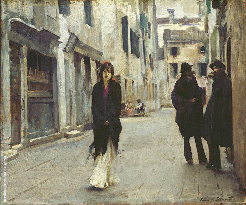 Street in Venice 1882 Painting By John Singer Sargent