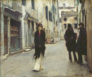 Street in Venice 1882 By John Singer Sargent