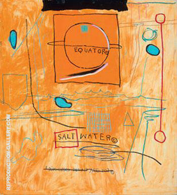 Big Sun By Jean-Michel-Basquiat Replica Paintings on Canvas - Reproduction Gallery