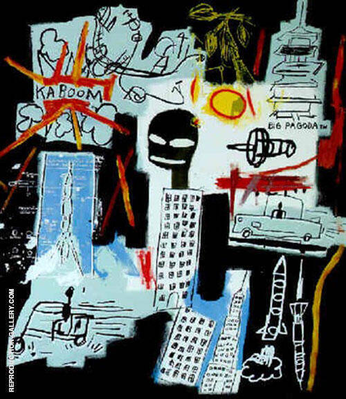 Carbon Oxygen By Jean-Michel-Basquiat Replica Paintings on Canvas - Reproduction Gallery