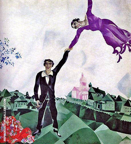 The Promenade. 1917 Painting By Marc Chagall - Reproduction Gallery